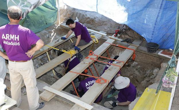 Excavaciones en el cementerio del Carmen en la campaña del año pasado.