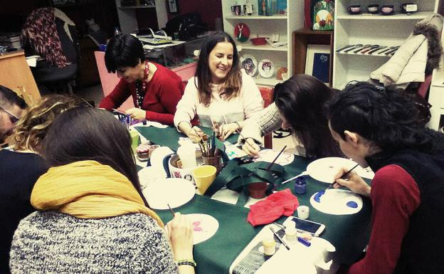 Un curso de dibujo en el local de Open Studio.