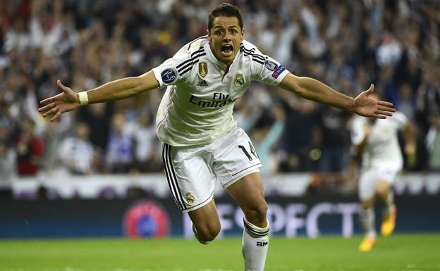 Chicharito durante su etapa en el Real Madrid. /AFP