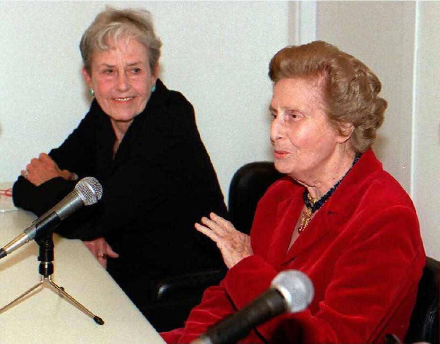 Mercedes Formica e Inge Morath en 1996