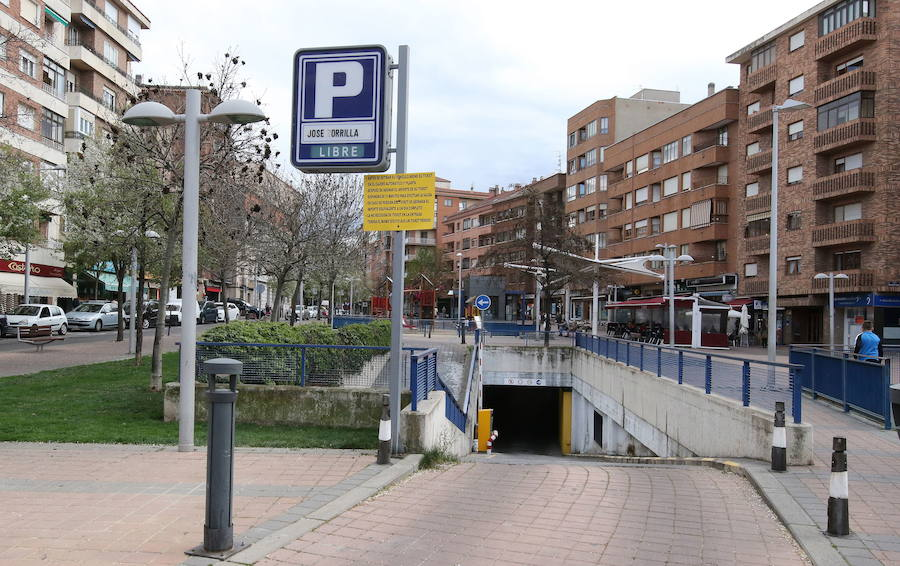 Entrada al 'parking' de José Zorrilla.