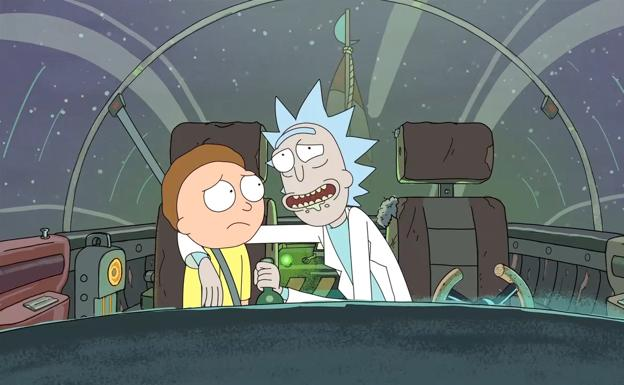 Fotograma de 'Rick y Morty'./