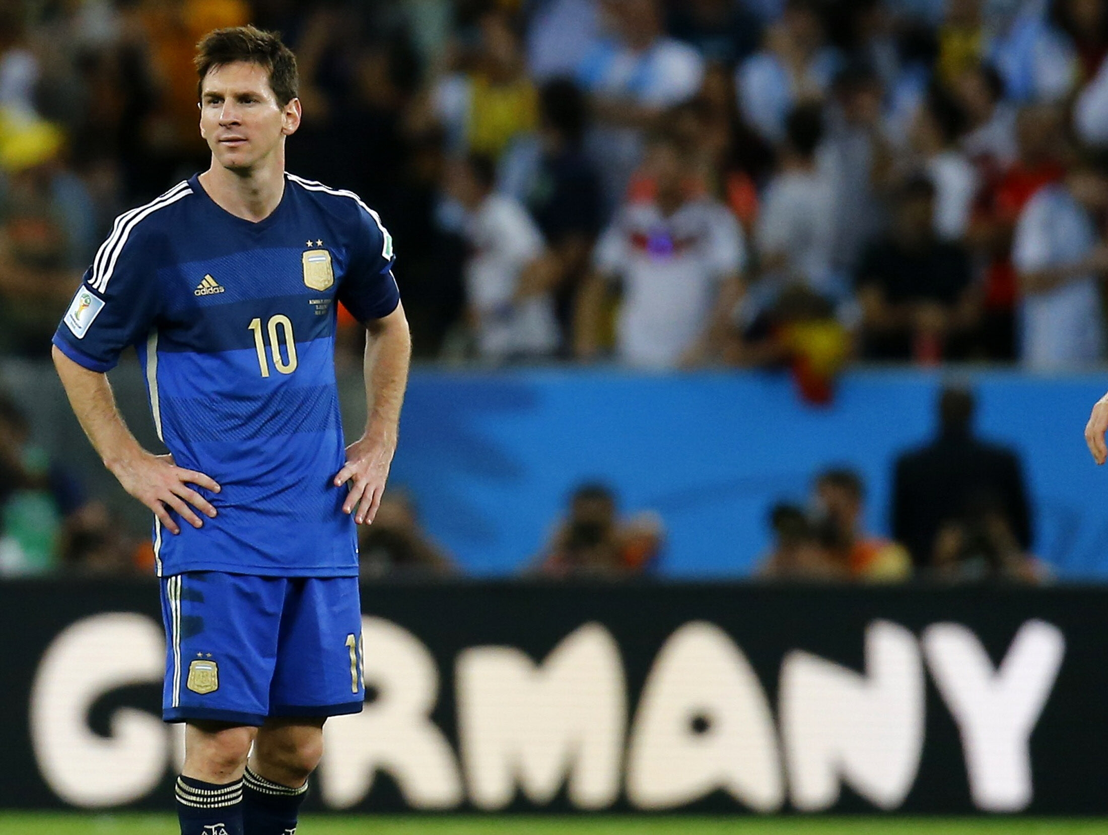 Messi, durante la final ante Alemania. /