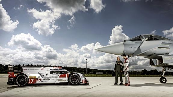 Audi R18 frente a Eurofighter Typhoon