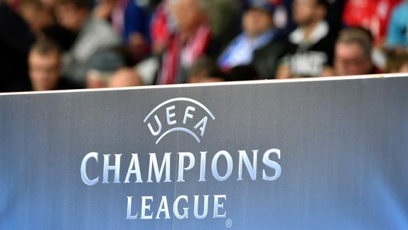 El logotipo de la Champions League. /