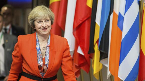 Theresa May en la cumbre europea/