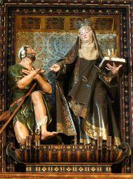 El retablo del convento de Santa Isabel recupera el brillo del siglo XVII/